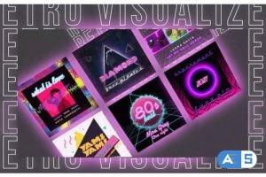 Videohive Retro Music Visualizer Instagram 29717361