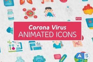Videohive Corona Virus Icons 26019243