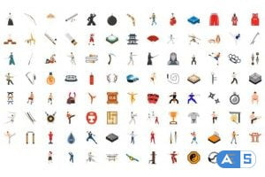 Videohive 100 Martial Arts Icons 30141890