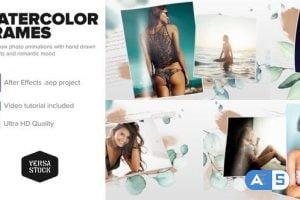 Videohive Watercolor Frames Slideshow 30110817