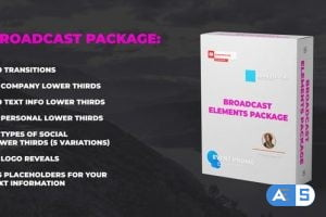 Videohive Broadcast Elements Package 23821553