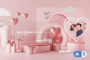 Videohive Valentine Music and Podcast Visualizer 30203365