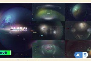 Videohive HUD Screens/ UI Display/ Sci-Fi Interface/ FUI/ Hi-Tech Titles/ Planet Earth/ Drone View/ Future/ TV 29954143