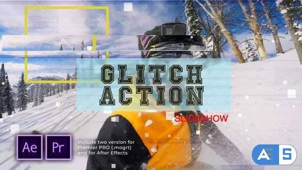 Videohive Glitch Action Slideshow 29903819