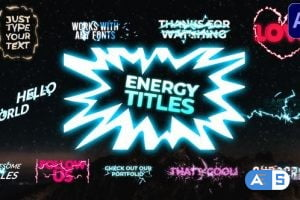 Videohive Energy Titles Pack | After Effects 30128033
