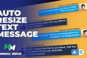 Videohive Clean Text Message Kit/ Autoresize 29947609