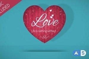 Videohive Valentine Hearts 19293463