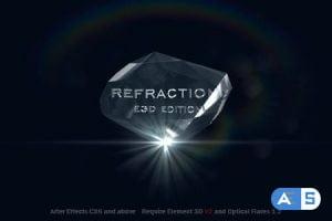 Videohive Refraction 2 | Element 3D V2 Logo Reveal 10560163