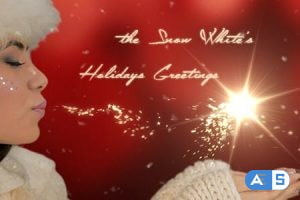 Videohive The Snow White's Holidays Greetings 13993628