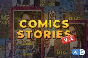 Videohive Comics Instagram Stories v.2 30357582