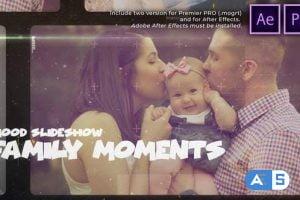 Videohive Happy Family Moments Slideshow 30265416