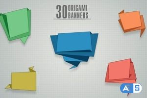 Videohive 30 Origami Banners 10741264