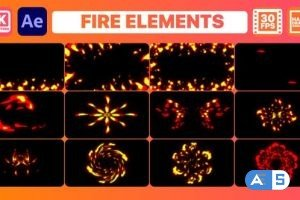 Videohive Fire Elements And Backgrounds   After Effects 30375515