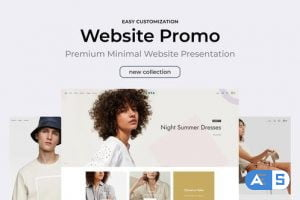 Videohive Clean Minimal Website Promo 30371983
