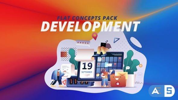 Videohive Development – Flat Concept 30816701