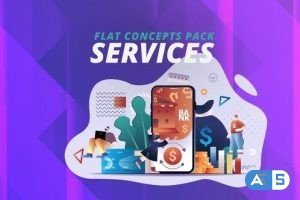 Videohive Services – Flat Concept 30816901