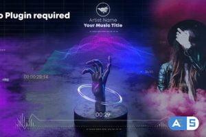 Videohive Hand Wave Music Visualizer 30364228