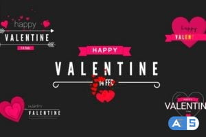Videohive Valentine Modern Titles 30365895