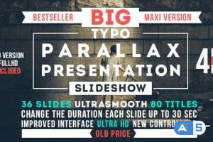 Videohive Big Typo Parallax Presentation 12819517