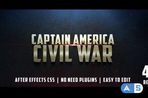 Videohive Civil War Cinematic Trailer 12430722