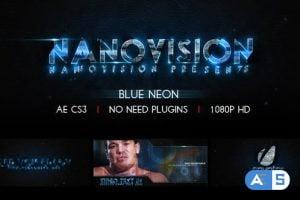 Videohive Blue Neon V.1 6030075