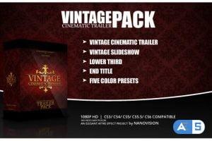 Videohive Vintage Cinematic Trailer Pack 4068495
