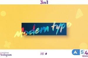 Videohive Modern Typo Opener 24759373