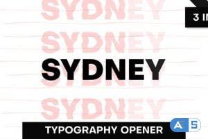 Videohive Sydney | Typography Opener 26589750