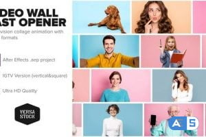 Videohive Video Wall Fast Opener 4K and Social 30384691