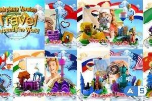 Videohive Travel Around The World Airplane version 9455377