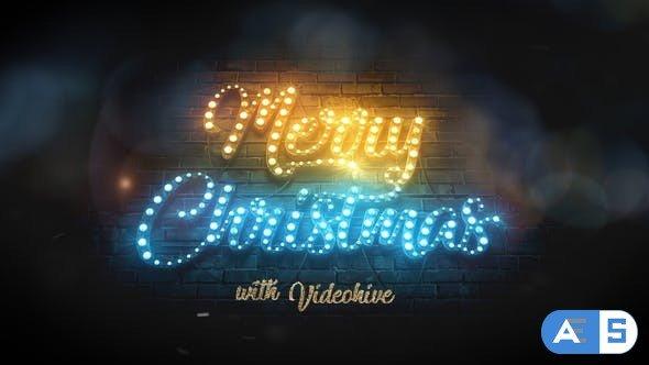 Videohive Merry Christmas Light Bulbs 29516457