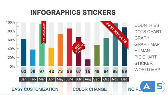 Videohive Infographics stickers 22492051