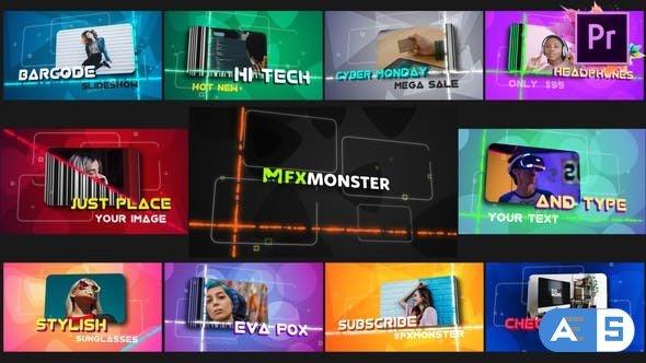 Videohive Barcode Slideshow | Premiere Pro MOGRT 31300820