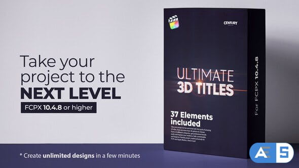 Videohive Ultimate 3D Titles for FCPX -1272557