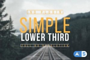 Videohive Simple Lower Third 15379815
