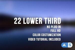 Videohive 22 Lower Third 13754263