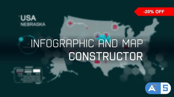 Videohive infographic and map constructor 21055529