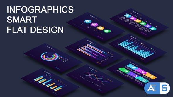 Videohive Infographics smart flat design 23493675