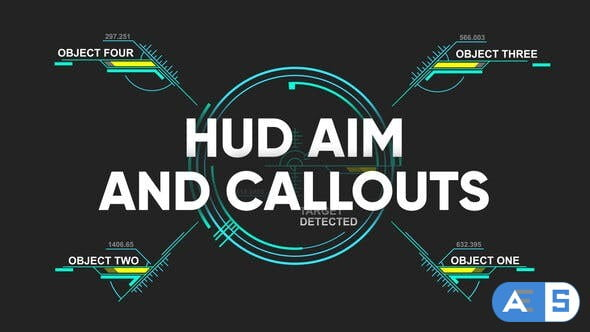 Videohive HUD aim and callouts 30952370