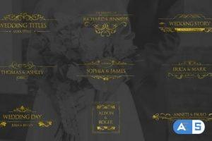 Videohive Gold Wedding Titles 30917427