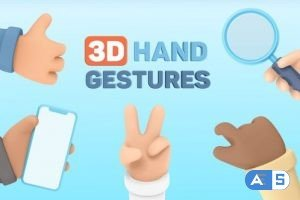 Videohive 3D Hand Gestures   Mockup Device 30620317