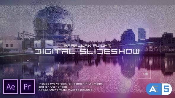 Videohive Digital Flight Parallax Slideshow 30975384