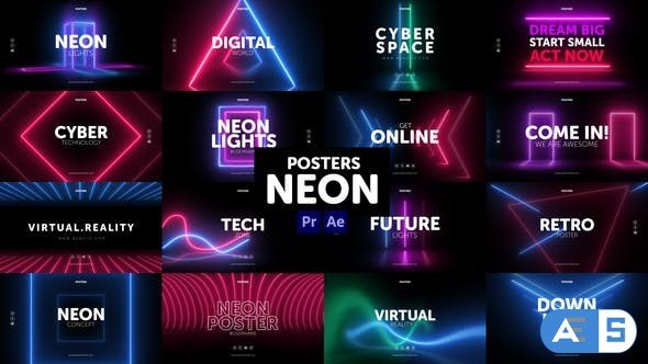 Videohive Posters Neon 30954697