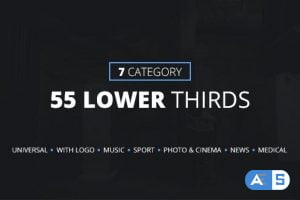 Videohive 55 Lower Thirds (7 Categories) 13935512