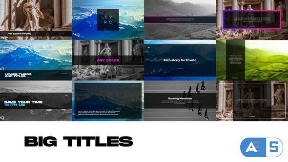 Videohive Big Titles for Premiere Pro 30953155