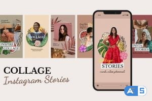 Videohive Collage Fashion Instagram Stories 31456738