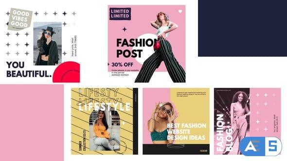 Videohive Fashion serif post instagram 31424451