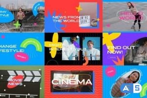 Videohive Typography YouTube Intro 3 in 1 31446253