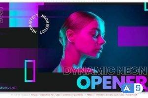 Videohive Fashion Neon. Musical Dynamic Opener 31424026