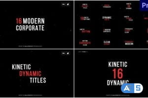 Videohive Kinetic Titles 31529913